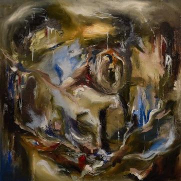 un color - oleo sobre tela 50X50 por Nicole Sunkel (2021)